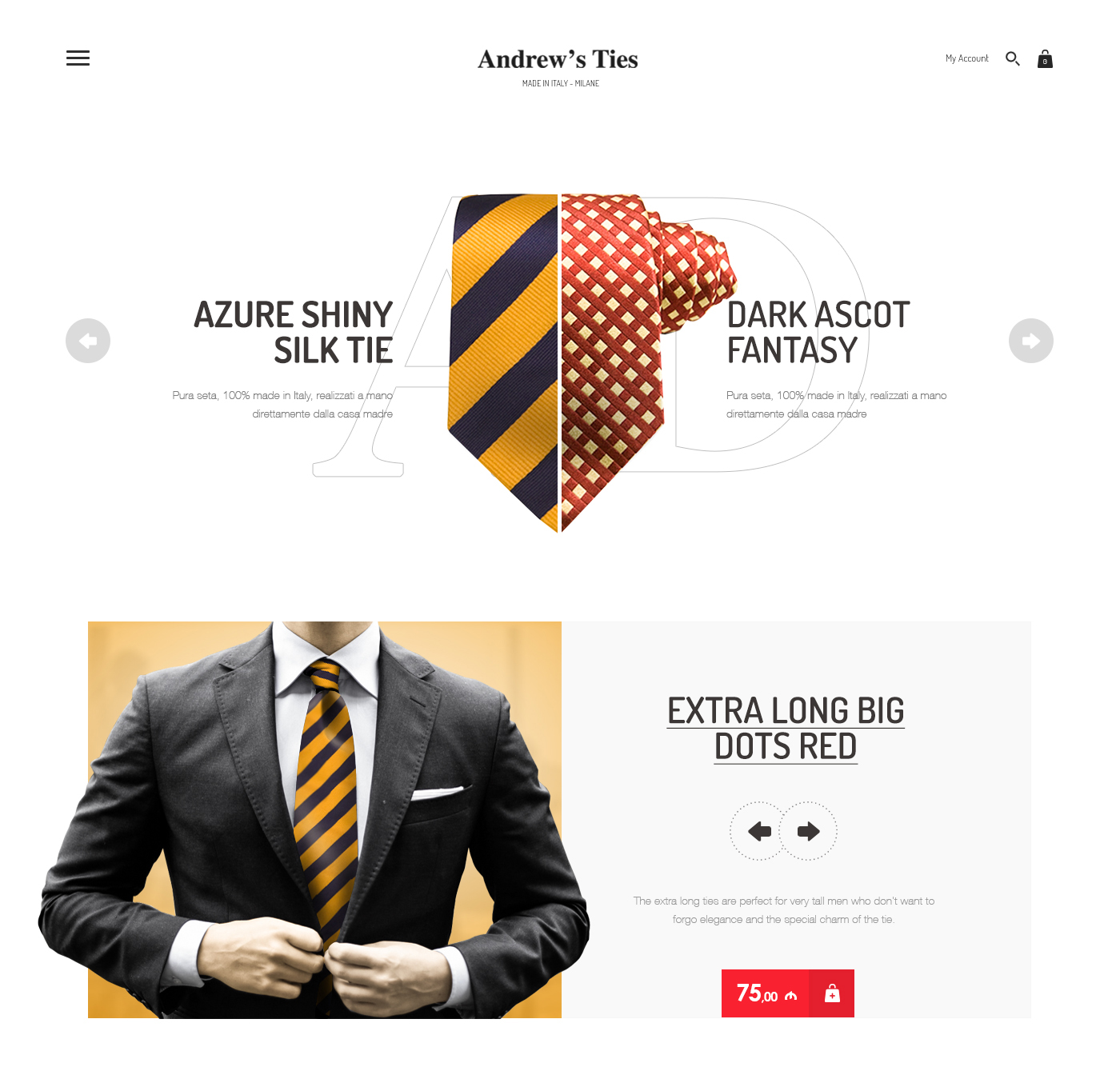 Andrew's Ties,UX/UI Design,Design Idea