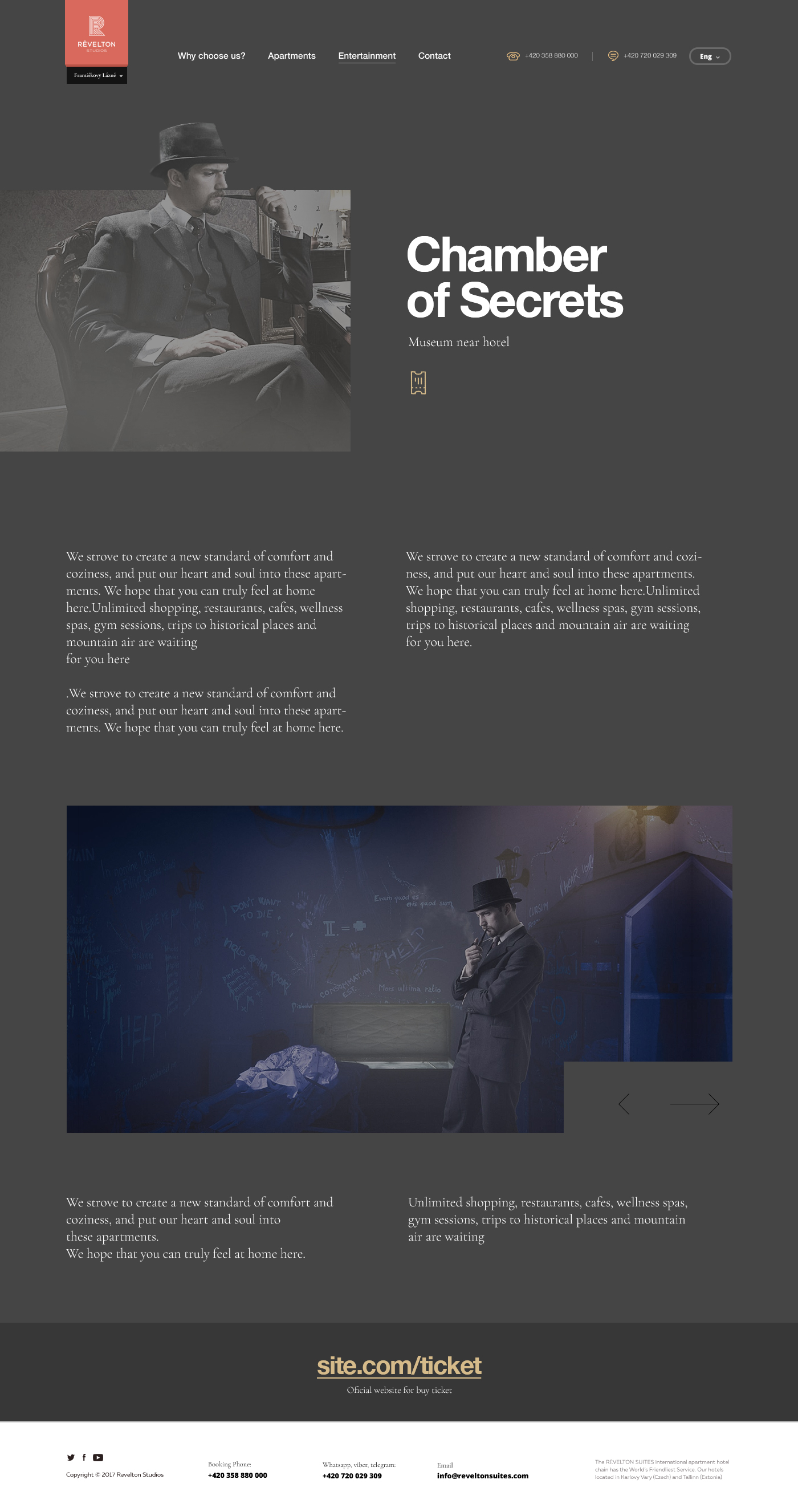 Museum Page, Websitedesign, Hotel Near Museum page, Cz, Intraction , User Interface Design , Revelton design, Chingiz Adilov, Ux research